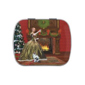 Navidad, hogar del vintage, tostada del día de fie frascos de dulces