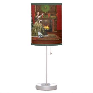 Navidad, hogar del vintage, tostada del día de fie lámpara de mesa