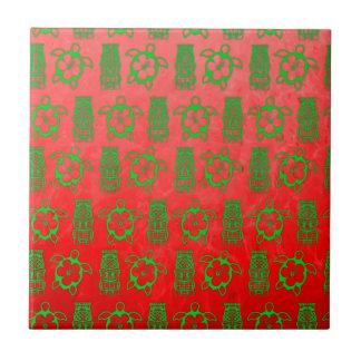 Navidad Honu y Tiki Tejas Cerámicas