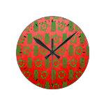 Navidad Honu y Tiki Relojes De Pared