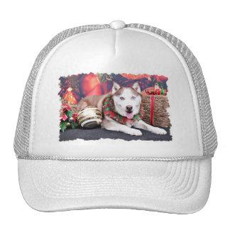 Navidad - husky siberiano - compinche gorro de camionero