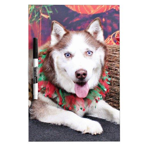 Navidad - husky siberiano - compinche tableros blancos