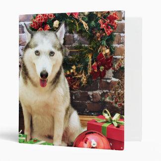 Navidad - husky siberiano - retratos de Teagarden