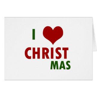 Navidad I <3 Tarjeta De Felicitación
