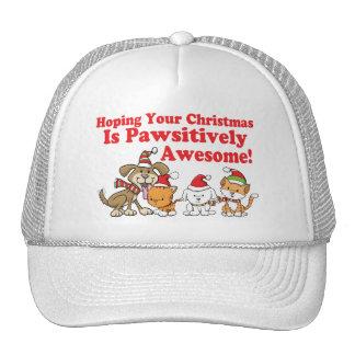 Navidad impresionante de Pawsitively de los perros Gorro