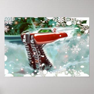 Navidad impresionante del invierno posters