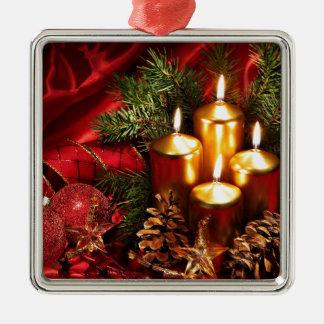 navidad increíble adorno navideño cuadrado de metal
