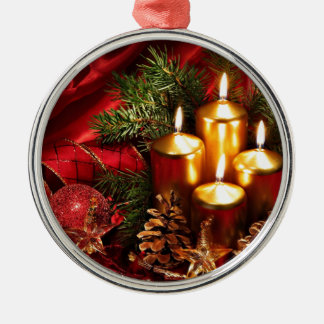 navidad increíble adorno navideño redondo de metal