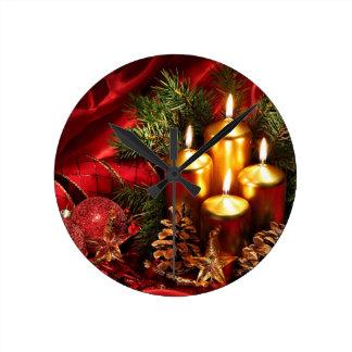 navidad increíble reloj redondo mediano