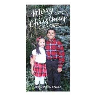 Navidad indicado con letras de la tarjeta el | de tarjetas fotográficas personalizadas