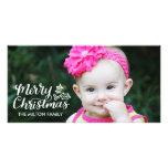Navidad indicado con letras Photocard lleno de la Tarjetas Fotograficas