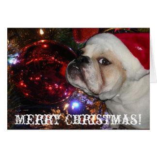 Navidad inglés del dogo felicitaciones