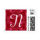 Navidad inicial blanco del modelo rojo del copo de sello