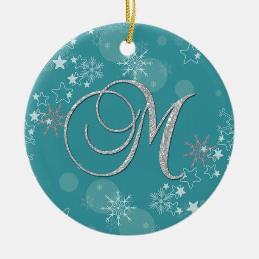 Navidad inicial de las estrellas de plata azules M Ornamentos Para Reyes Magos
