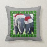 Navidad inolvidable del elefante almohadas