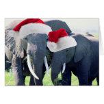 Navidad inolvidable del elefante tarjeta