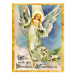Navidad inspirado del ángel postal