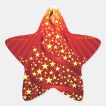 Navidad internacional pegatinas forma de estrella