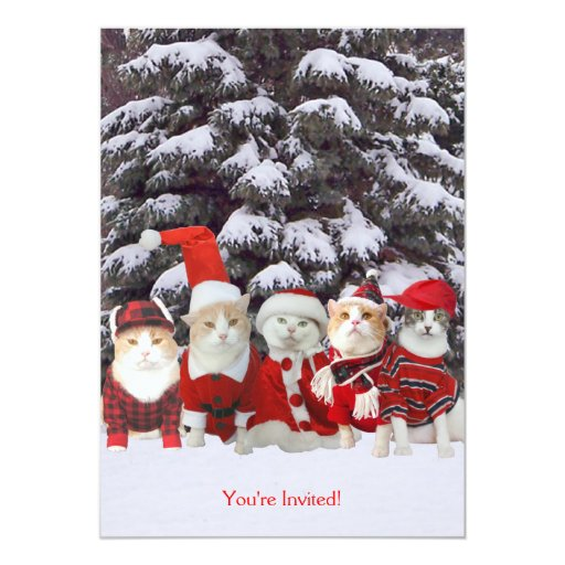 """Navidad/invitación de las vacaciones invitación 5"""" x 7"""""""