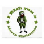 Navidad irlandés invitaciones personales