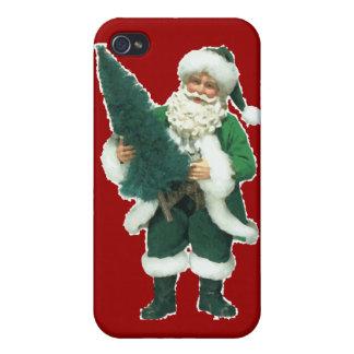Navidad irlandés Papá Noel iPhone 4 Cárcasa