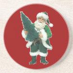 Navidad irlandés Papá Noel Posavasos Personalizados