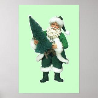 Navidad irlandés Papá Noel Póster