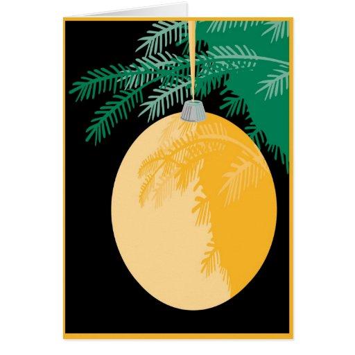 Navidad irlandés que bendice la tarjeta del orname