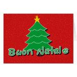 Navidad italiano tarjeta de felicitación