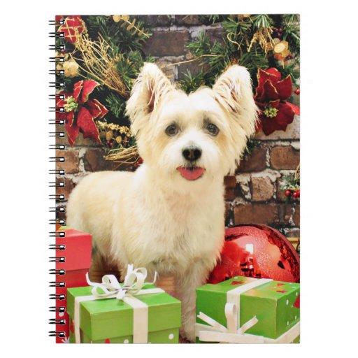 Navidad - Jack Russell Westie X - señora Cuaderno