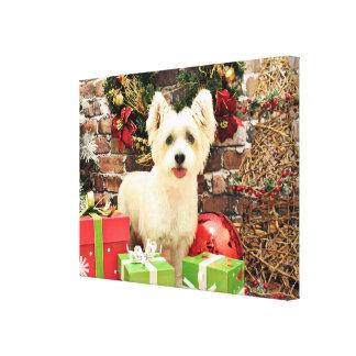 Navidad - Jack Russell Westie X - señora Lona Estirada Galerías