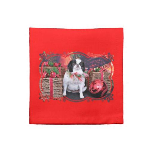 Navidad - japoneses Chin - Oreo Servilletas Imprimidas