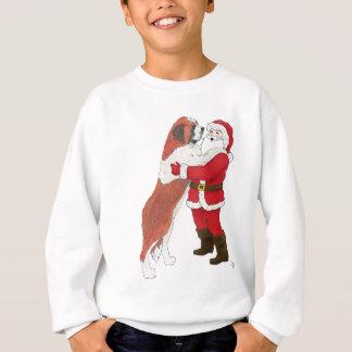 Navidad Jowly de St Bernard que saluda Camisas