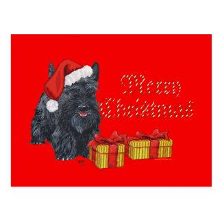 Navidad juguetón del escocés postales