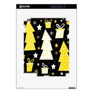 Navidad juguetona amarilla skins para iPad 2
