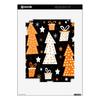 Navidad juguetona anaranjada iPad 2 skin