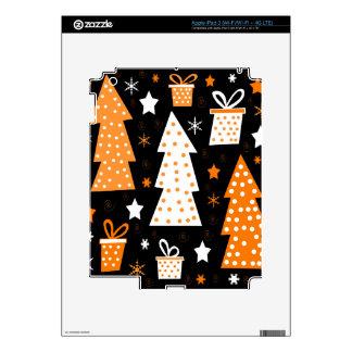 Navidad juguetona anaranjada iPad 3 skin