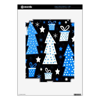 Navidad juguetona azul iPad 2 skin