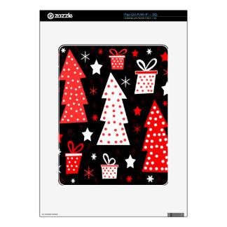 Navidad juguetona roja skin para el iPad