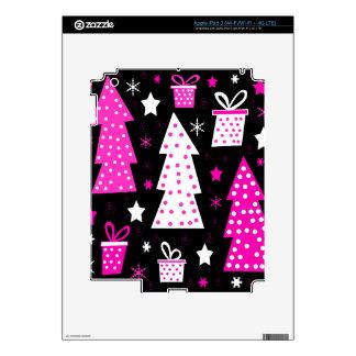 Navidad juguetona rosada pegatina skin para iPad 3