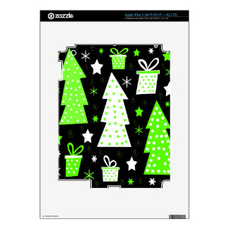 Navidad juguetona verde iPad 3 pegatina skin