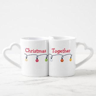 Navidad junto taza para parejas
