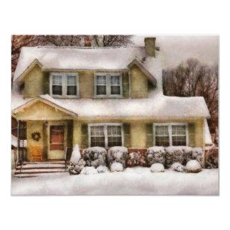 Navidad - la una mañana del invierno frío comunicados personales