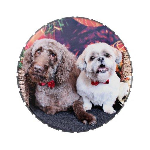 Navidad - LabraDoodle Bob - Shih Tzu Bentley Latas De Dulces