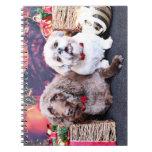 Navidad - LabraDoodle Bob - Shih Tzu Bentley Libros De Apuntes Con Espiral