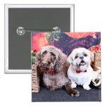 Navidad - LabraDoodle Bob - Shih Tzu Bentley Pin