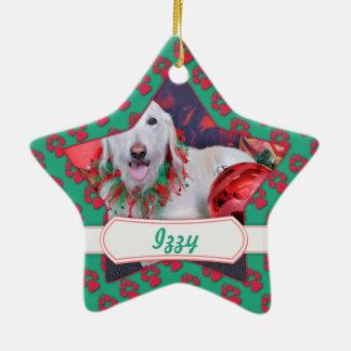 Navidad - LabraDoodle - Izzy Ornamento De Navidad