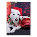 Navidad - LabraDoodle - Izzy Tarjeta De Felicitación