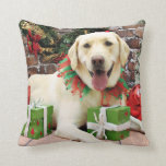 Navidad - Labrador amarillo - Strider Almohadas