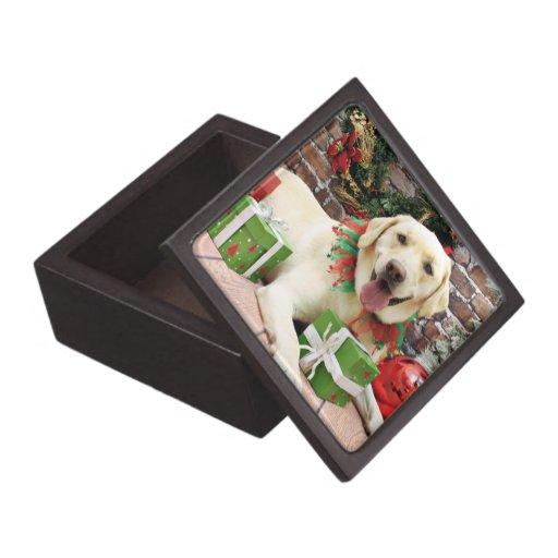 Navidad - Labrador amarillo - Strider Caja De Joyas De Calidad